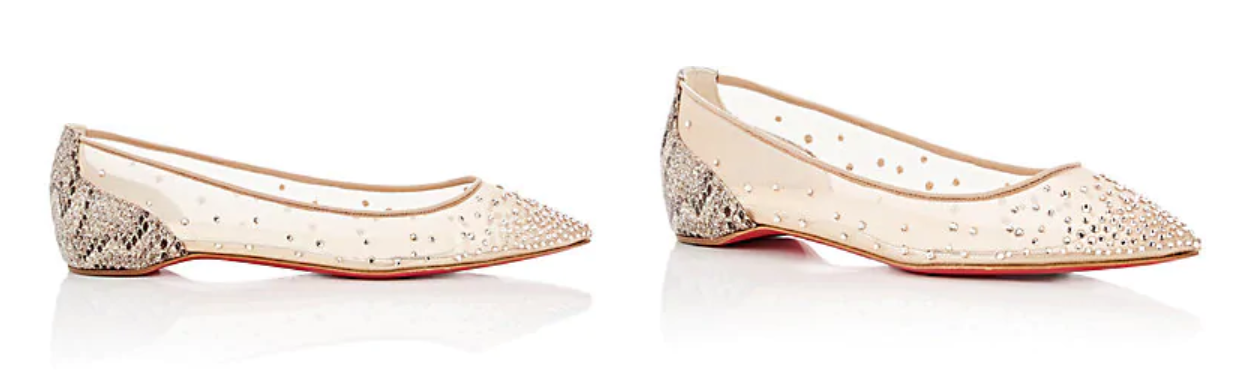 Must have accessories - CHRISTIAN LOUBOUTIN Follies Strass Mesh & Glitter Flats - fashion tips - essential accessories
