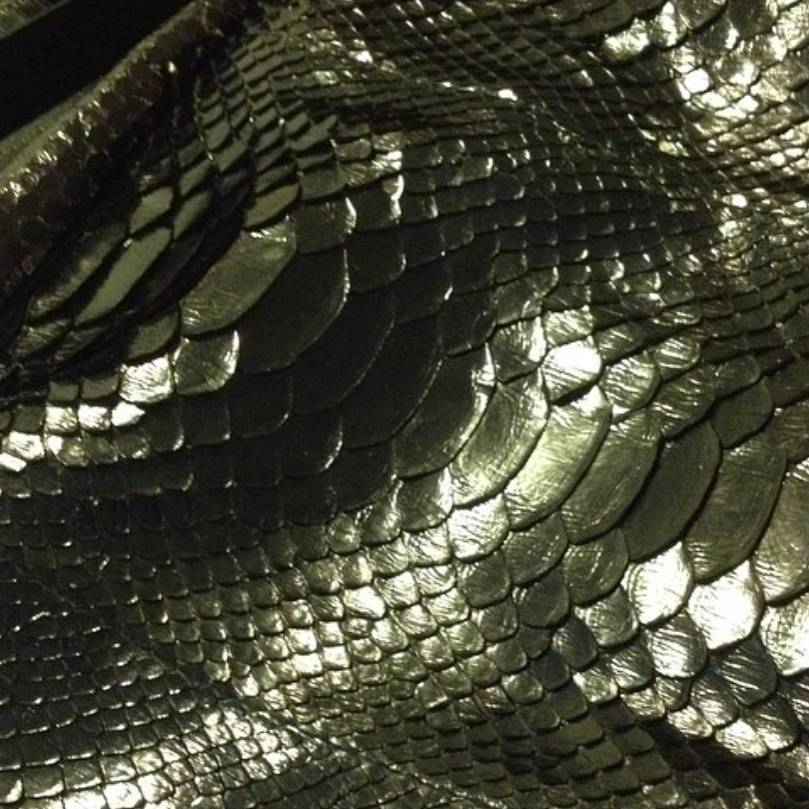 Metallic Green Genuine Python Leather - custom leather bags - exotic leather bags - python leather purses - metallic leather purses - bespoke handbags - exotic leather accessories