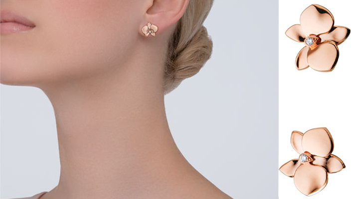 must have accessories - Fashion tips - CARESSE D'ORCHIDÉES PAR CARTIER EARRINGS PINK GOLD, DIAMONDS - pink gold orchid earrings - essential accessories - essential jewelry pieces - must have accessories - styling tips - fashion styling tips