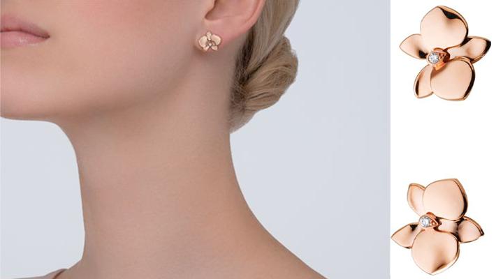 must have accessories - Fashion tips - CARESSE D'ORCHIDÉES PAR CARTIER EARRINGS PINK GOLD, DIAMONDS - pink gold orchid earrings - essential accessories - essential jewelry pieces - must have accessories - styling tips - fashion styling tips