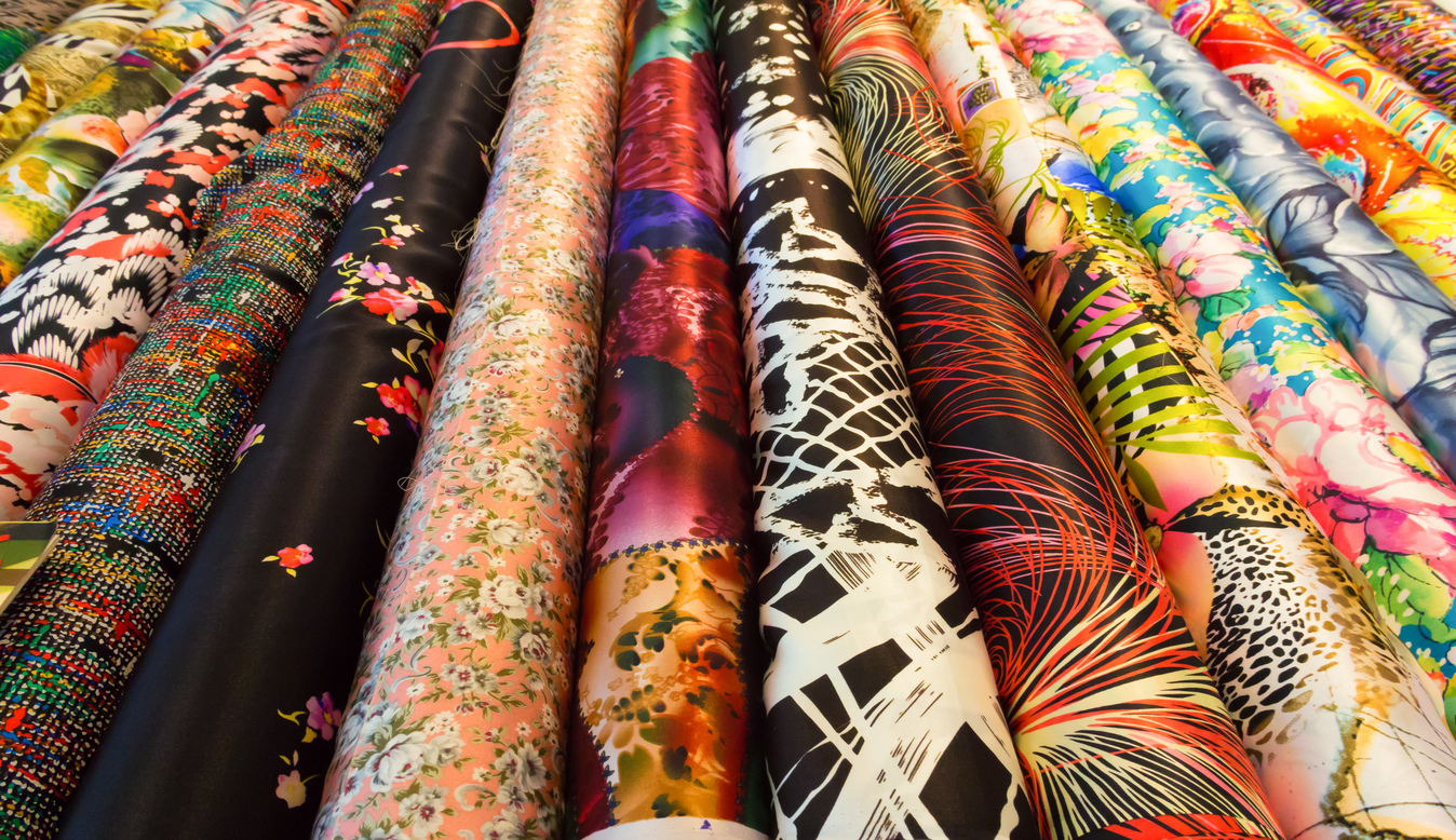 Chinese silk rolls - Fabric Market Shanghai - south bund fabric market shanghai - things to do in shanghai