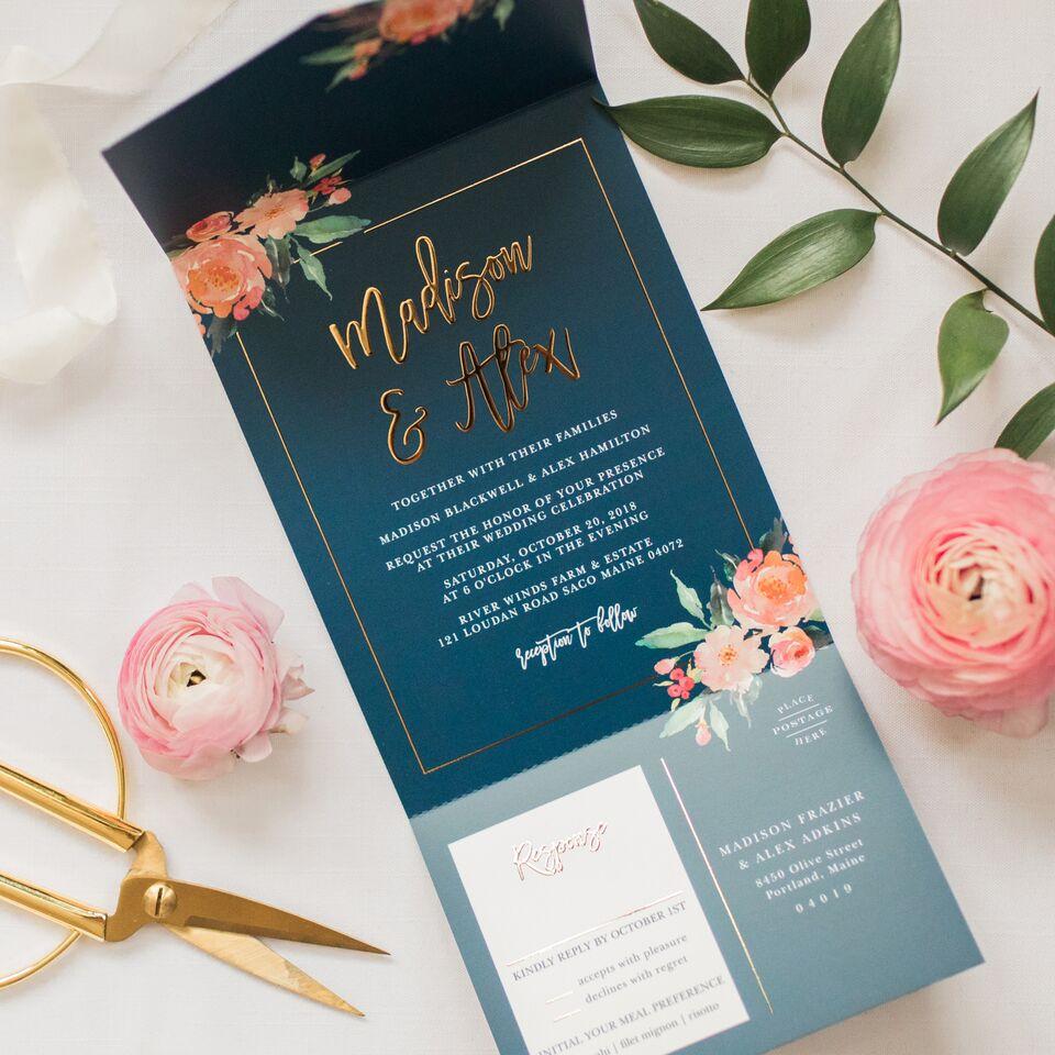 custom wedding invitations by alyssa parker - basic invite - luxury wedding invitations
