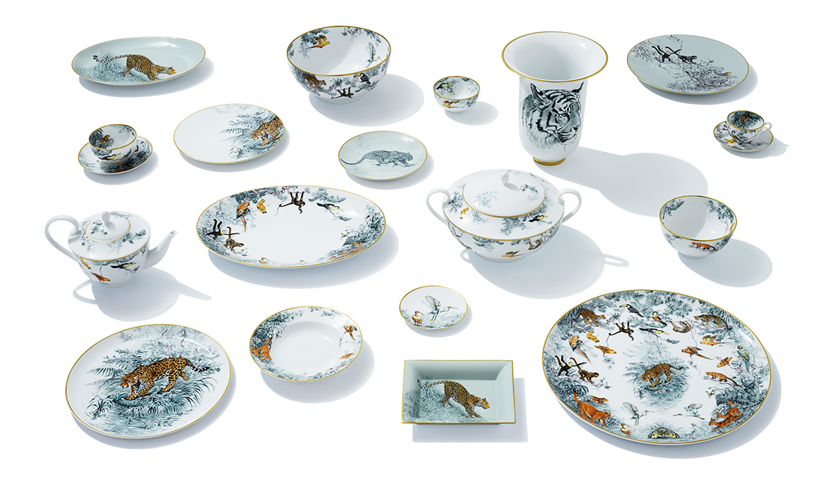 Hermes Carnets d'Equateur Collection - luxury dinnerware - luxury tableware - luxury table setting ideas
