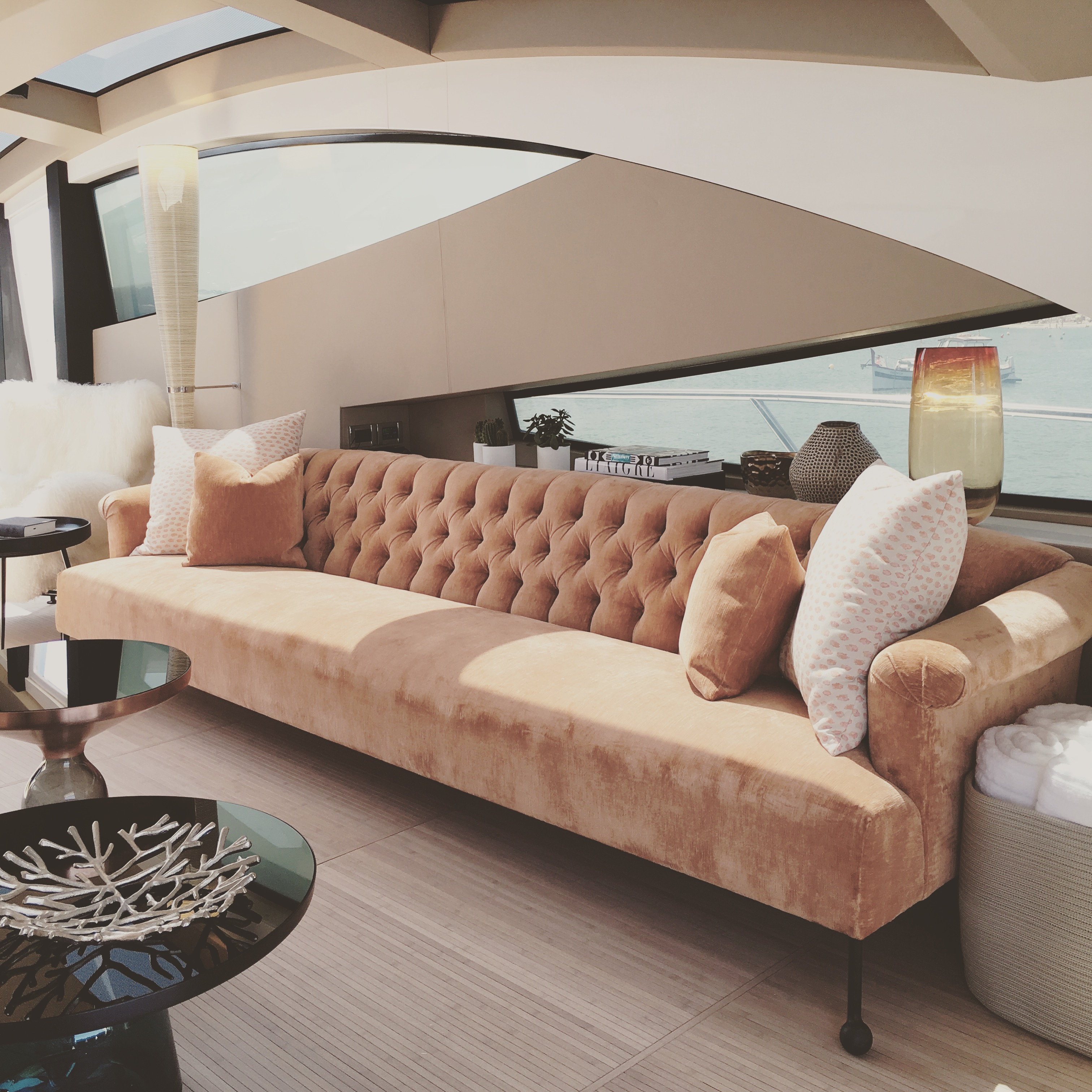 Ibiza Yacht by Light on White - Alizee Brion - Top Miami Interior Design Firms - best interior designers miami - miami interior design - luxury interiors - yacht interior design - yacht interiors - yacht living rooms