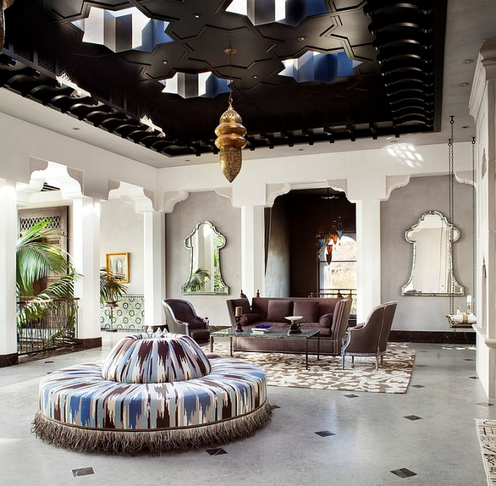 Living Room Moroccan interior design