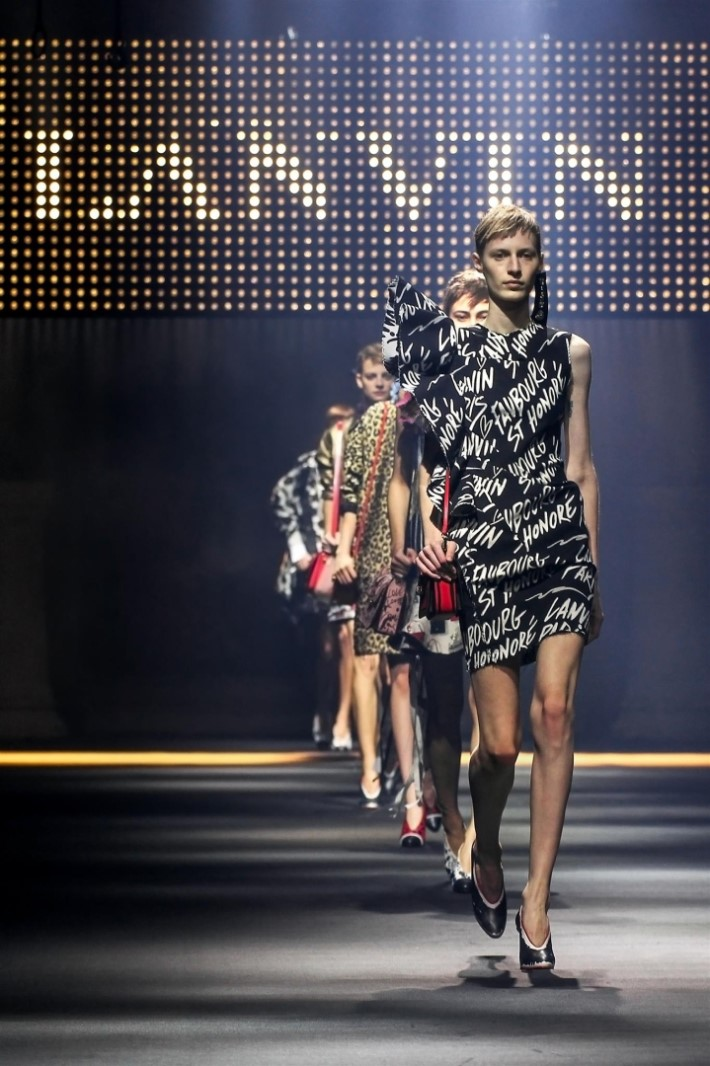 Show of luxury fashion brand Lanvin