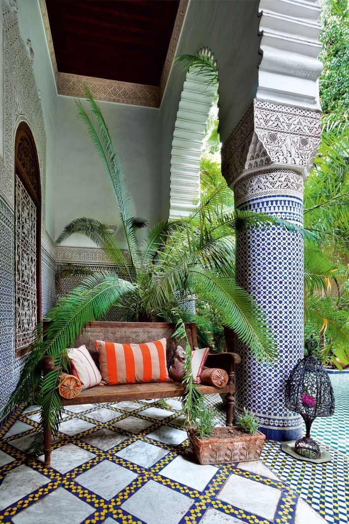 Riad with moroccan interior design