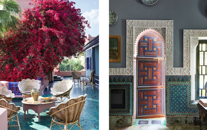 Blue and Pink Moroccan interior design