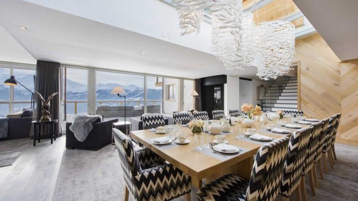 Living Room Ski Chalet Seecha, Verbier