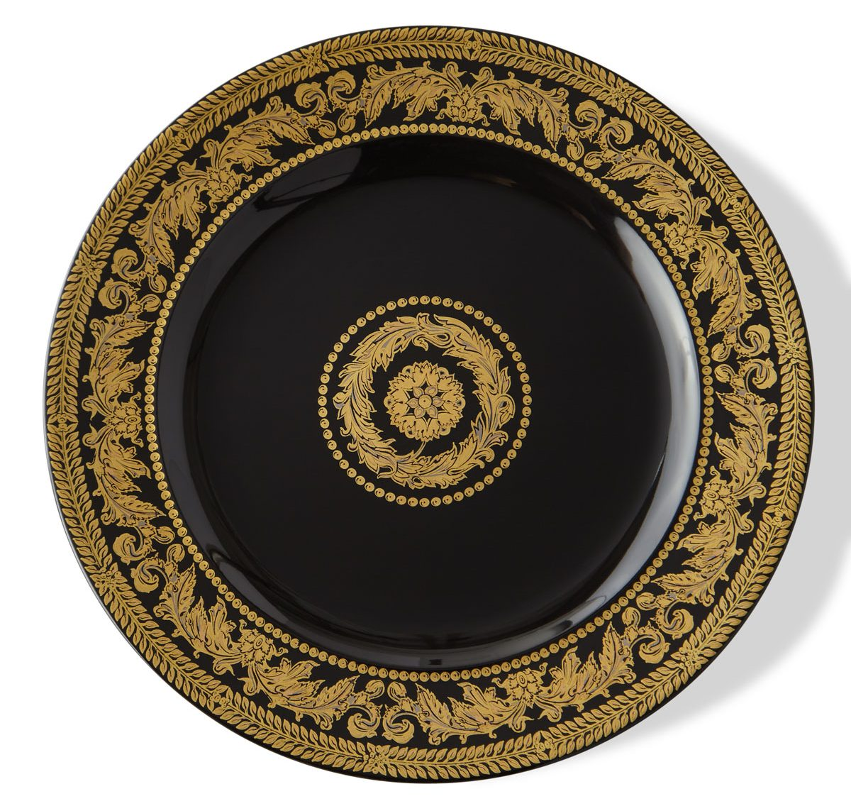 Versace-gold-baroque-3-piece-set-teacup-saucer-plate - luxury dinnerware