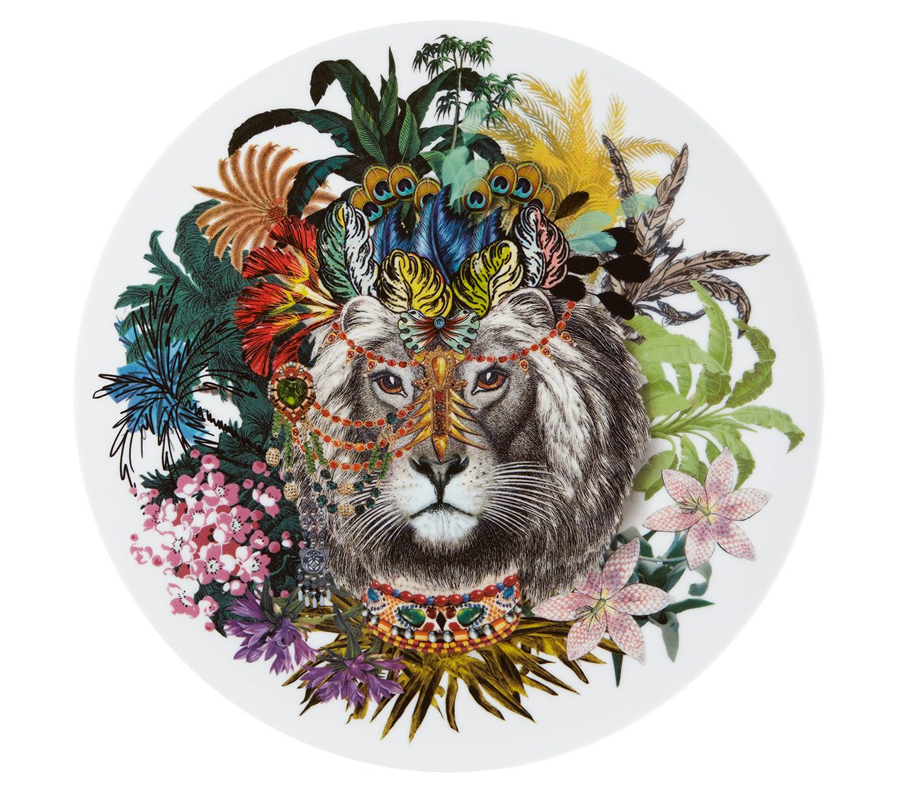 Vista Alegre Christian Lacroix-love-who-you-want-prato-marcador-jungle-king - luxury dinnerware - luxury tableware