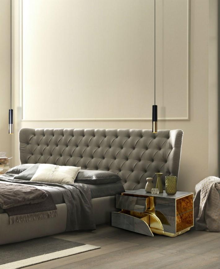 silver luxury bedroom