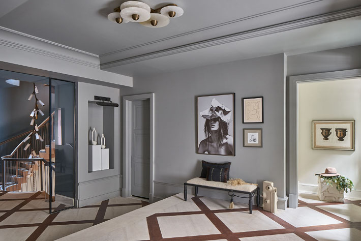 Foyer Design by Grisoro Designs Holiday House NYC 2018 c. Marco Ricca Studio