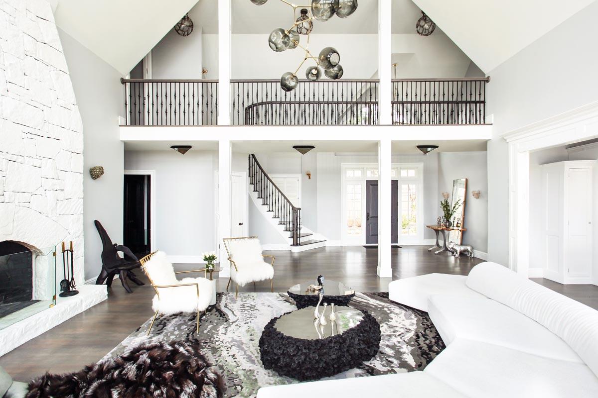 Hudson Valley Living Room Design by Sasha Bikoff Interior Designer NYC