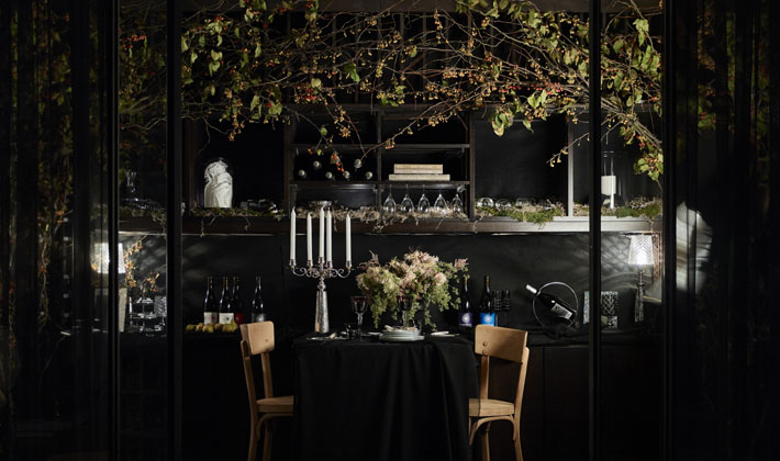 Wine Room by Interior Monologue Holiday House NYC 2018 c. JJ Jetel