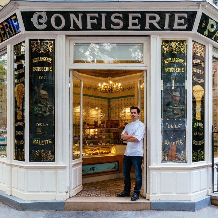 Photograph of the facade of Patisserie Boulangerie Boris for Paris Re-Tale Project by Sebastian Erras