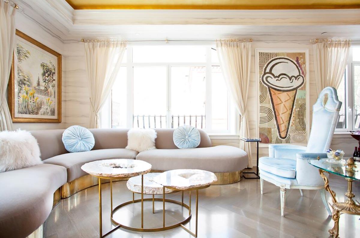Upper East Side II Living Room Design by Sasha Bikoff Interior Design NYC