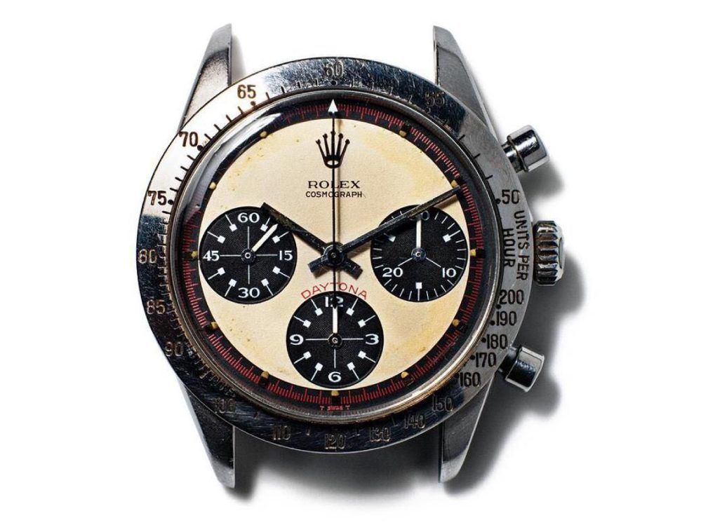 Rolex Cosmograph Daytona Watch in silver with a cream face and 3 specialty dials - one of the Most Expensive Watches Ever Made for Paul Newman by his wife $17.7 Million