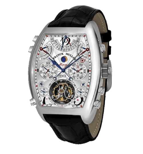 Franck Muller Aeternitas Mega 4 watch with a leather band and the most complicated movement and components of any watch - one of the most expensive watches ever made $2.7 Million