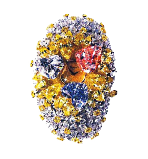 Chopard 201-Carat Watch with 201 karats of diamonds in a variety of cuts and colors - one of the Most Expensive Watches Ever Made$25 Million