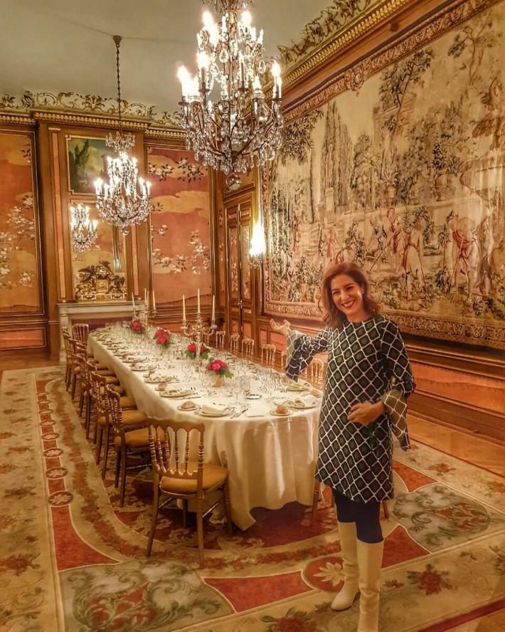 Rania Masri with luxury table