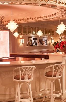 Pink Art Deco Interior of Swan Miami Bar Bevy by Interior Designer Ken Fulk - Best New Restaurants in Miami Design District