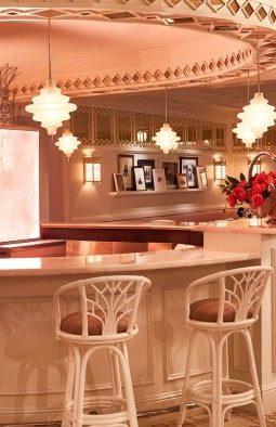 Pink Art Deco Interior of Swan Miami Bar Bevy by Interior Designer Ken Fulk - Best New Restaurants in Miami Design District