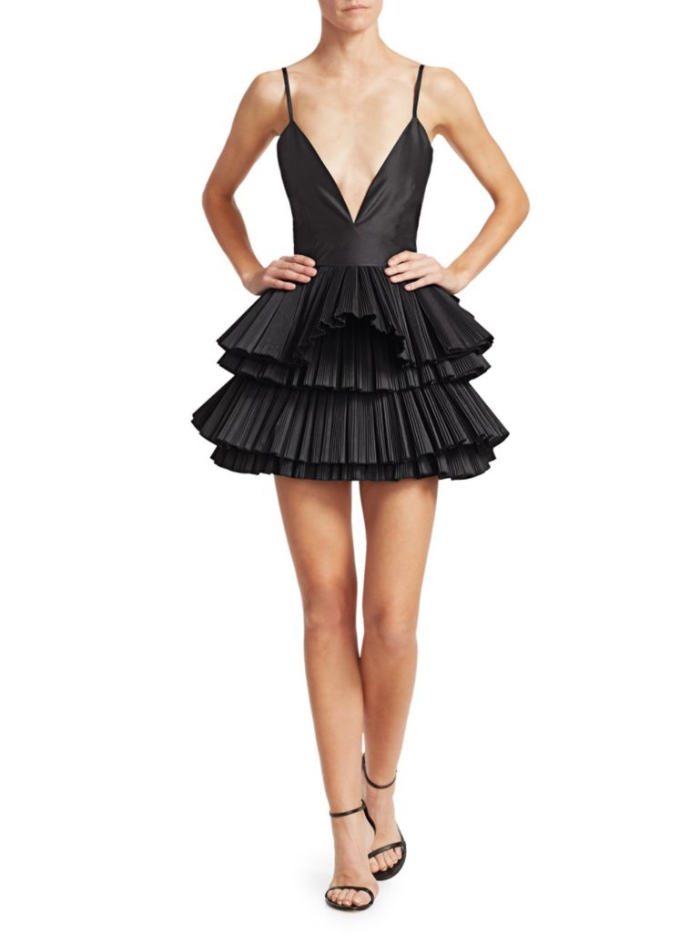 Alessandra Rich Taffeta Tutu Dress - what to wear to a new year's party