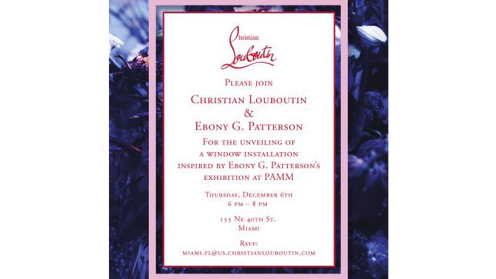 Christian Louboutin Ebony G Petterson Window Installation Miami Design District 2018