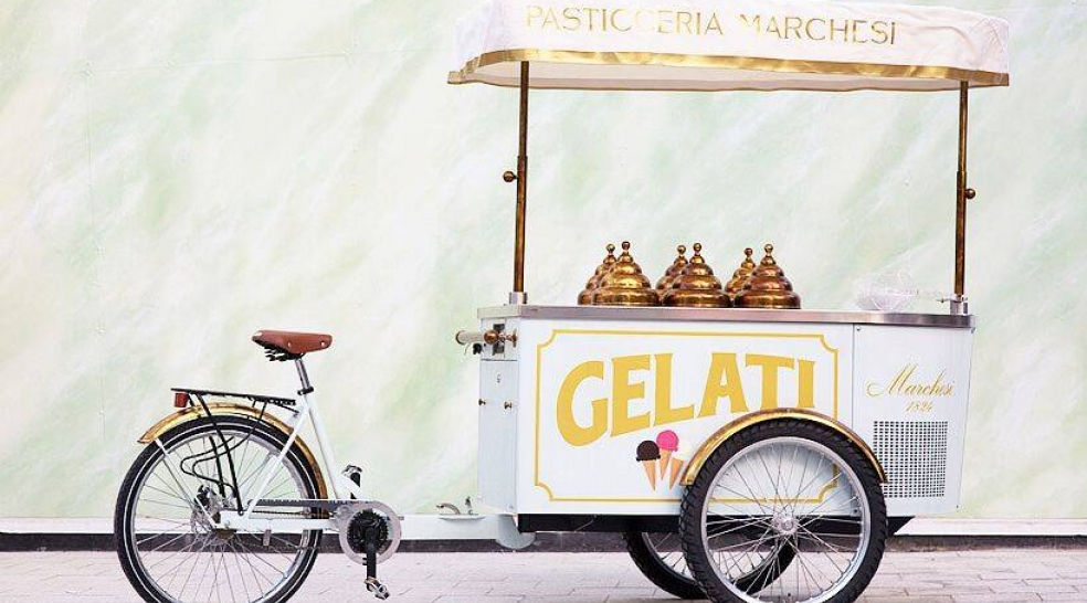 Pasticceria Marchesi Pop-up Gelati Cart Miami Design District - Miami Art Week 2018