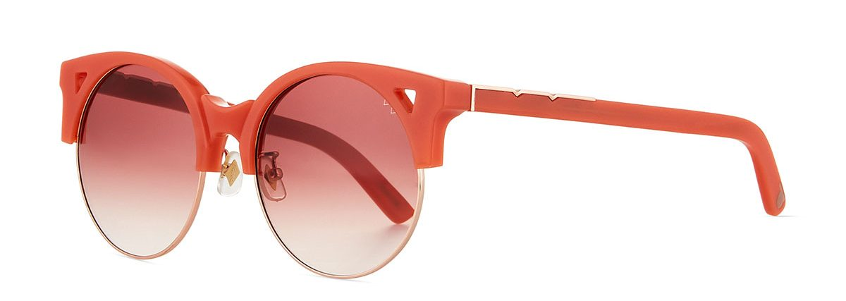 0e44476ce358 Up & At Em Semi-Rimless Round Sunglasses, Coral Bergdorf Goodman in Pantone  Color