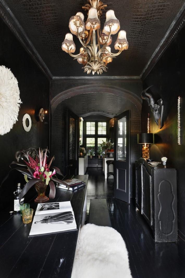 Hallway with Dark Walls