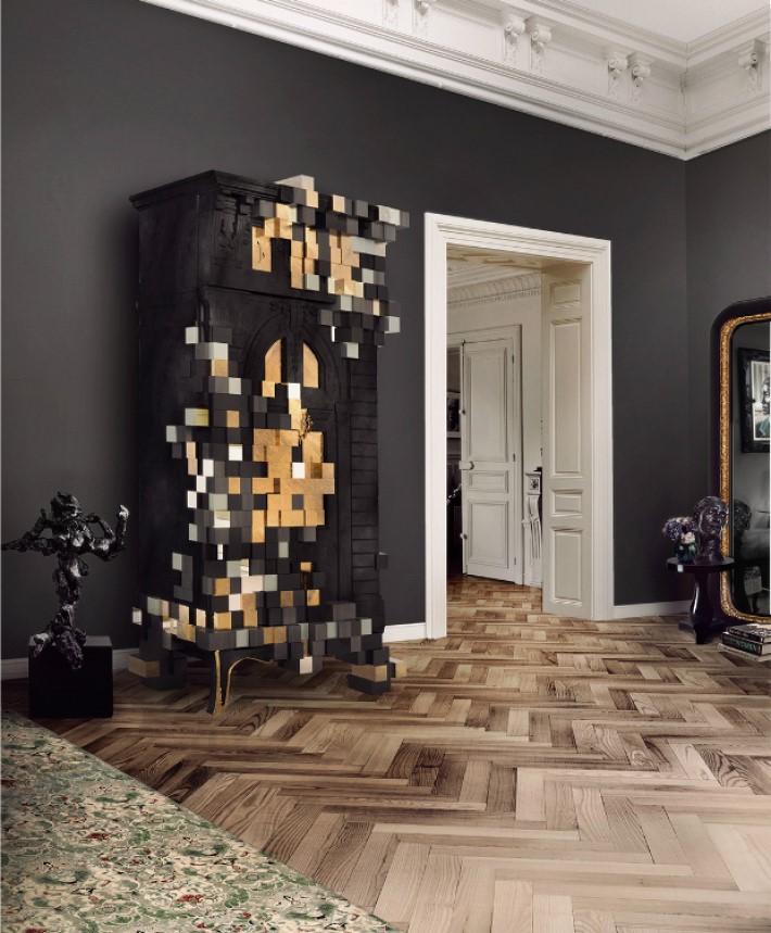Dark Walls with Picadilly Cabinet