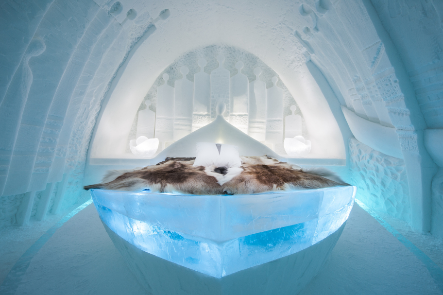 Luxury Proposal Ideas - Art Suite made of all ice at Icehotel Sweden