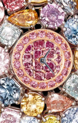 GRAFF DIAMONDS HALLUCINATION watch, one of the Most Expensive Watches ever made - Covered in a variety of rare diamonds in various cuts and finishes