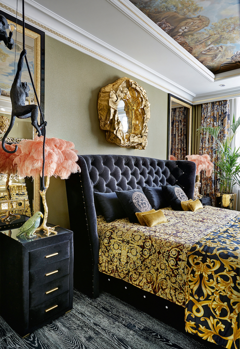 a luxury interior view of the luxurious bedroom in gia eradze's apartment designed by mironova design