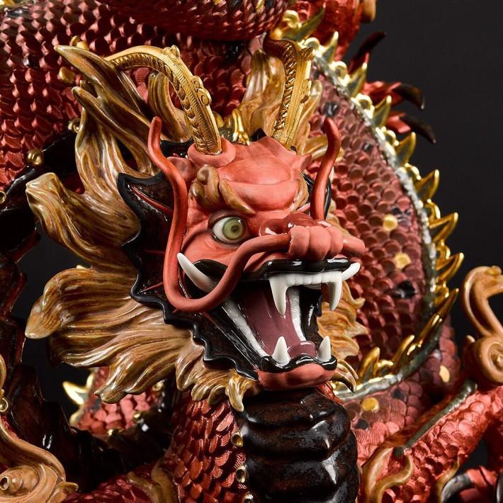 luxury porcelain dragon head tabletop decor sculpture by lladro at maison et objet 2019