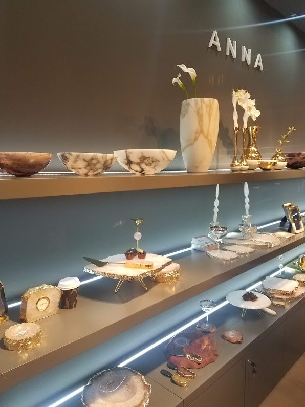 Anna New York's stand at maison et objet 2019 showcasing luxury dinnerware and tabletop decor