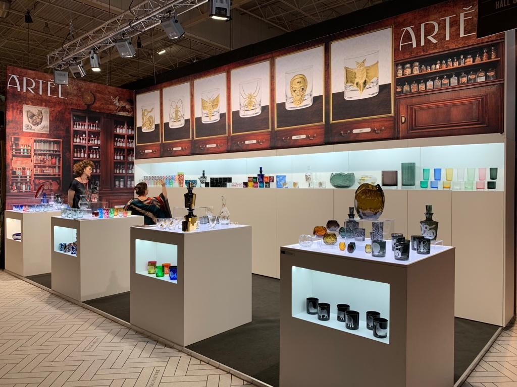 Cabinet of Curiosities Gilded Collection and other luxury glassware and luxury dinnerware by artel glass at maison et objet 2019