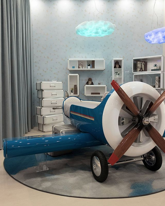 unique children's furniture sky one plane bed by circu