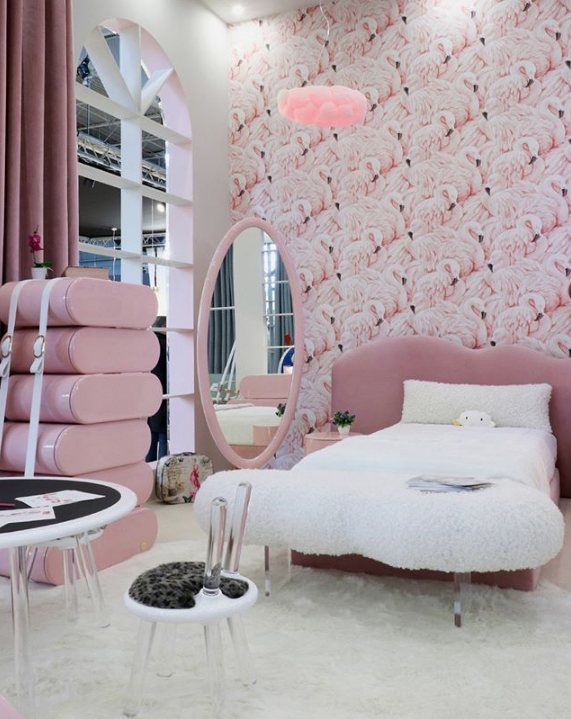 luxury children's furniture girl's pink cloud bedroom by circu