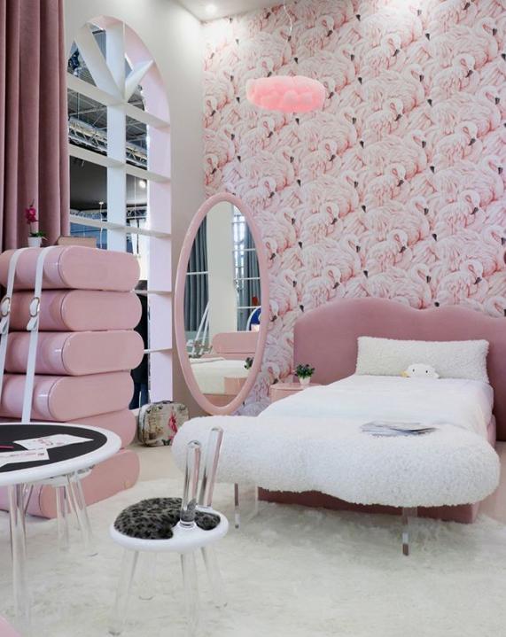 luxury children's furniture girl's pink cloud bedroom by circu
