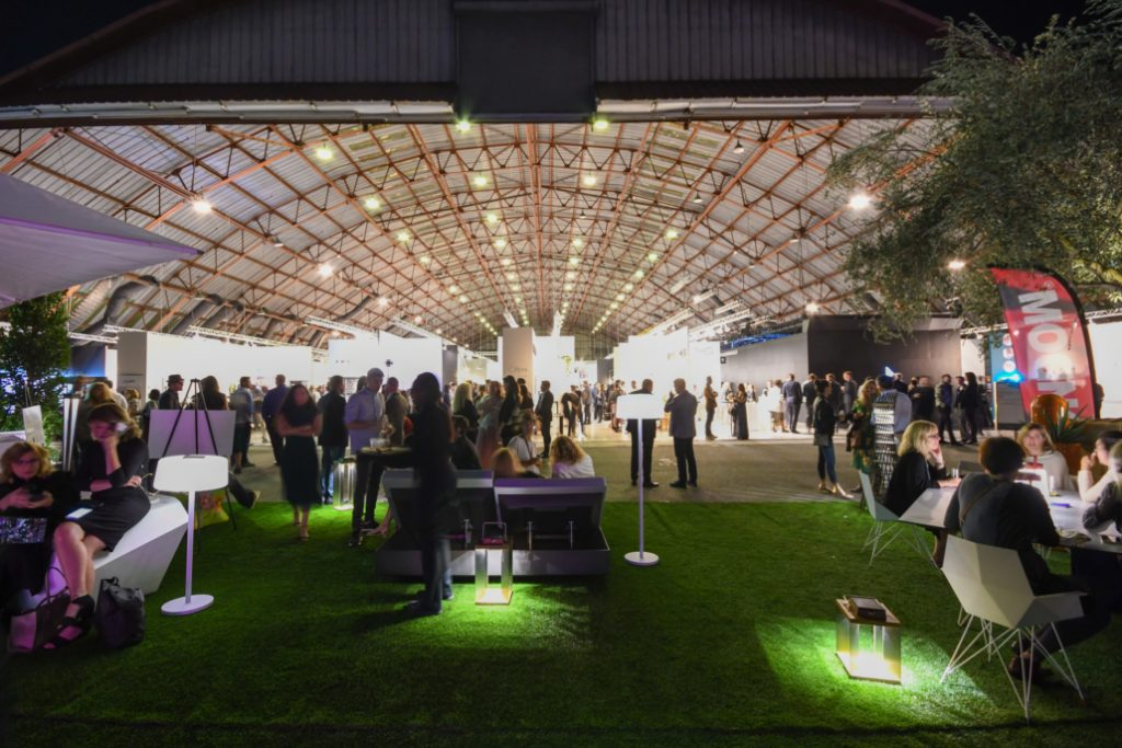 Interior view of the WestEdge Design Fair 2018 at the barker hanger santa monica, ca - Interior Design Events 2019