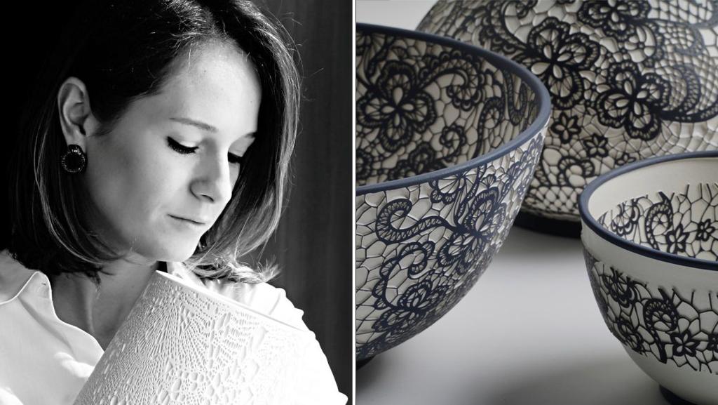 Esma Dereboy - Turkish Ceramic Artists - Lace Work Ceramic Art