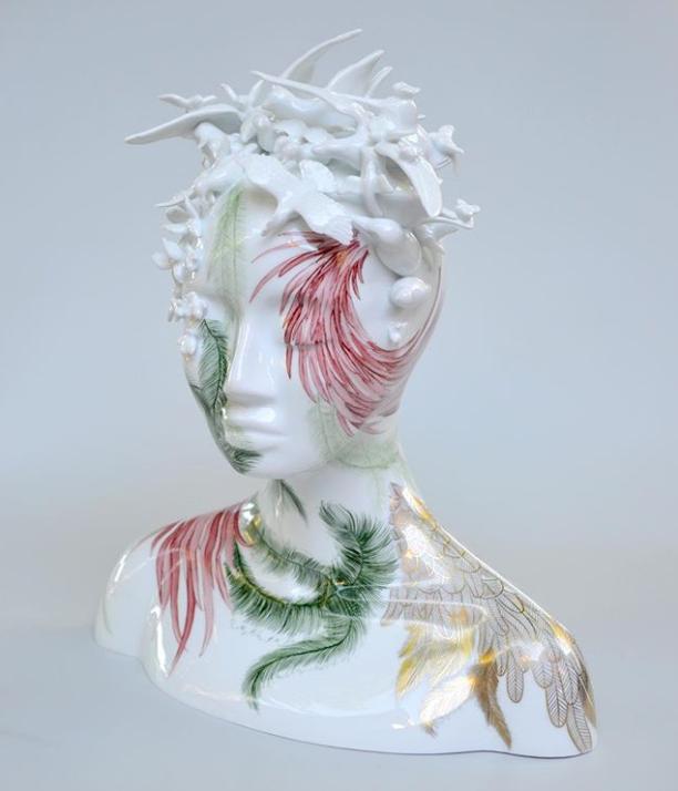 Isis Limoges Porcelain Sculpture by Juliette Clovis at Maison et Objet 2019