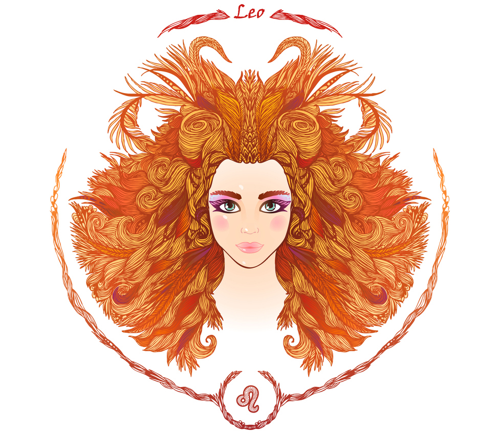 illustration of a woman representing leo zodiac sign 2019 horoscope
