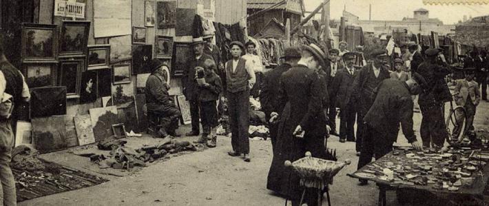 photo of the Marche aux Puces de Saint-Ouen 1920 - the paris flea market - Source: Marché Dauphine