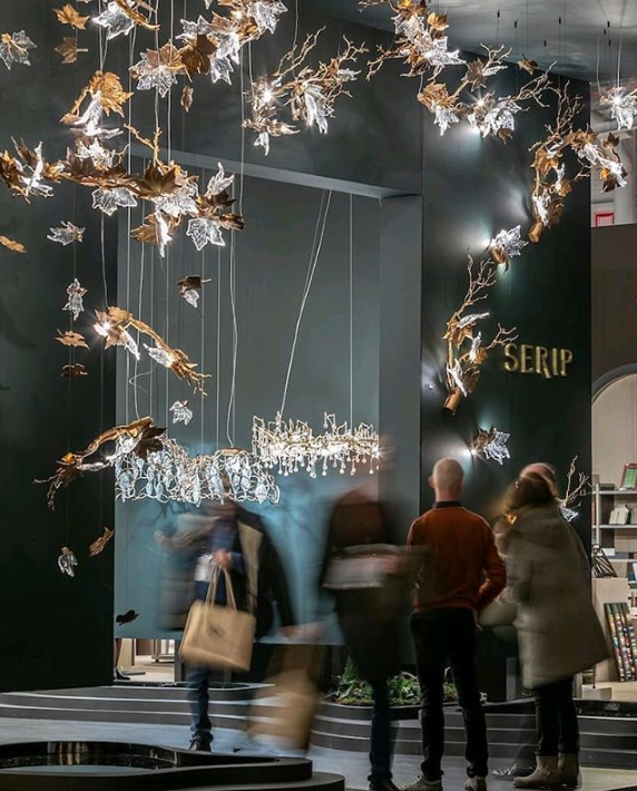 organic metal and glass lighting by serip at maison et objet 2019