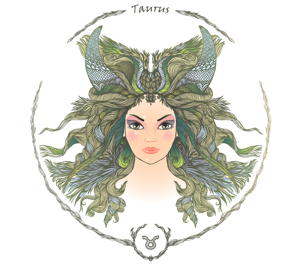 illustration of a woman representing taurus zodiac sign 2019 horoscope