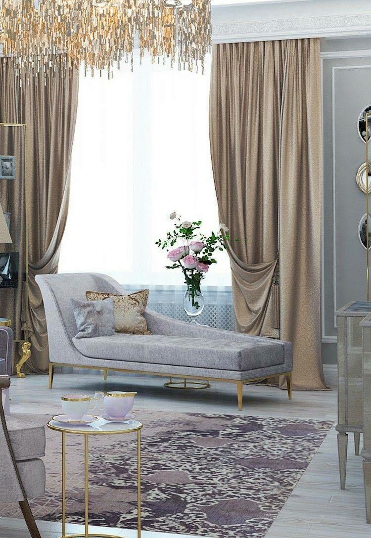 feminine sitting room with a chaise lounge - envy chaise by koket - top new year's resolutions
